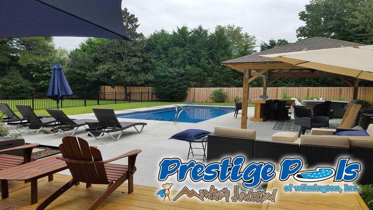 ... Prestige Pools Of Wilmington, NC Pool With Custom Swimming Pool Deck ...