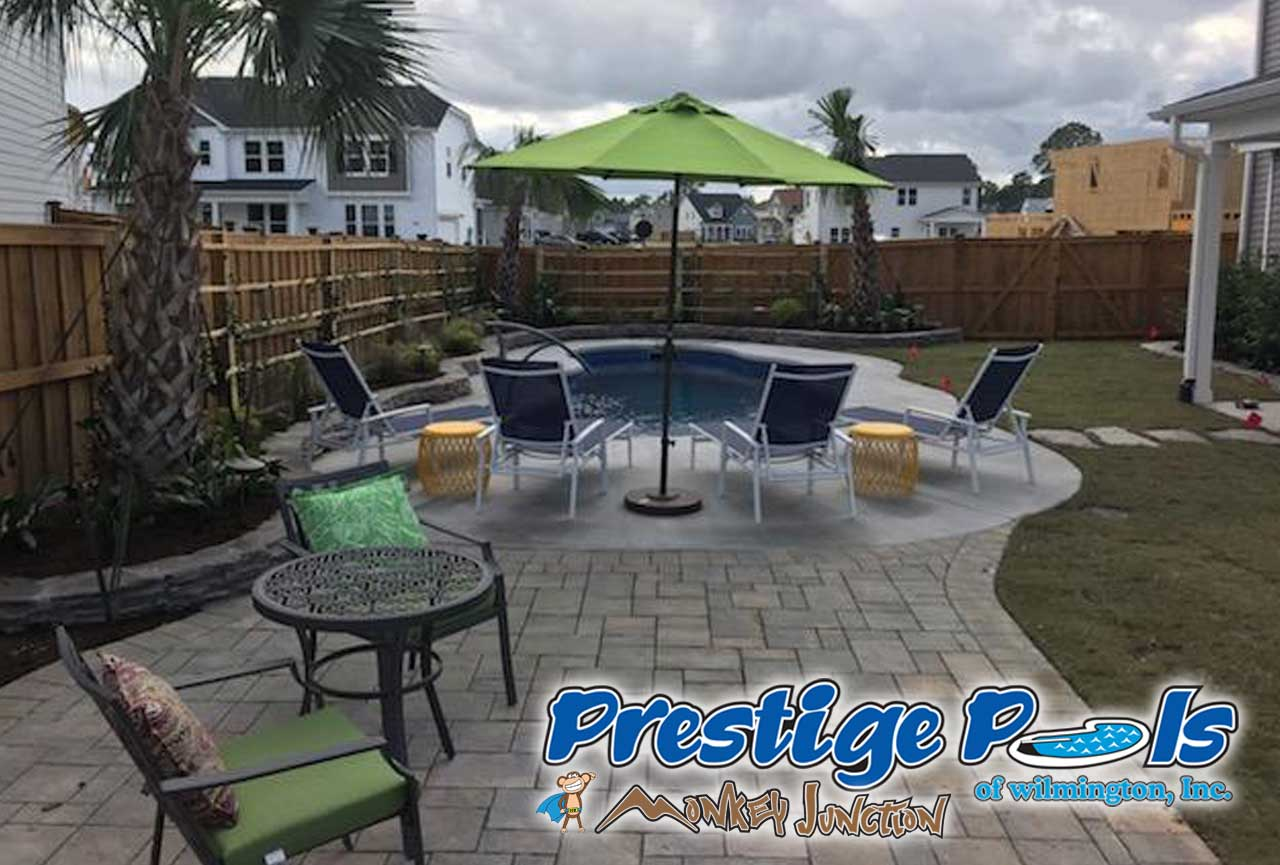 Prestige pools of wilmington nc swimming pool with custom decking