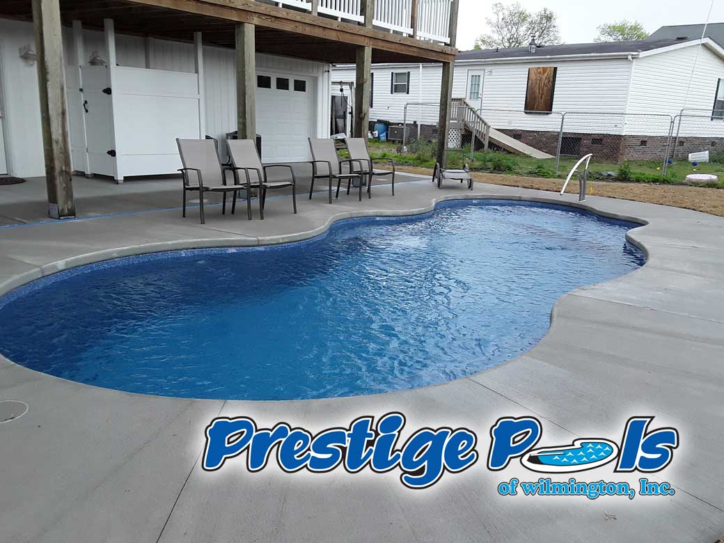 prestige pools of wilmington nc custom decking and coping for your swimming pool from
