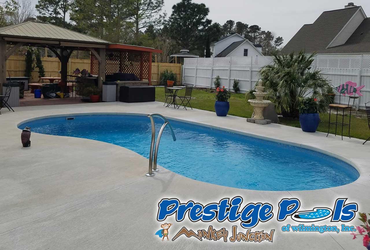 Merveilleux ... NC Prestige Pools Of Wilmington NC St. Augustine By Blue Hawaiian In  Sapphire Blue Crystite Gemstone ...