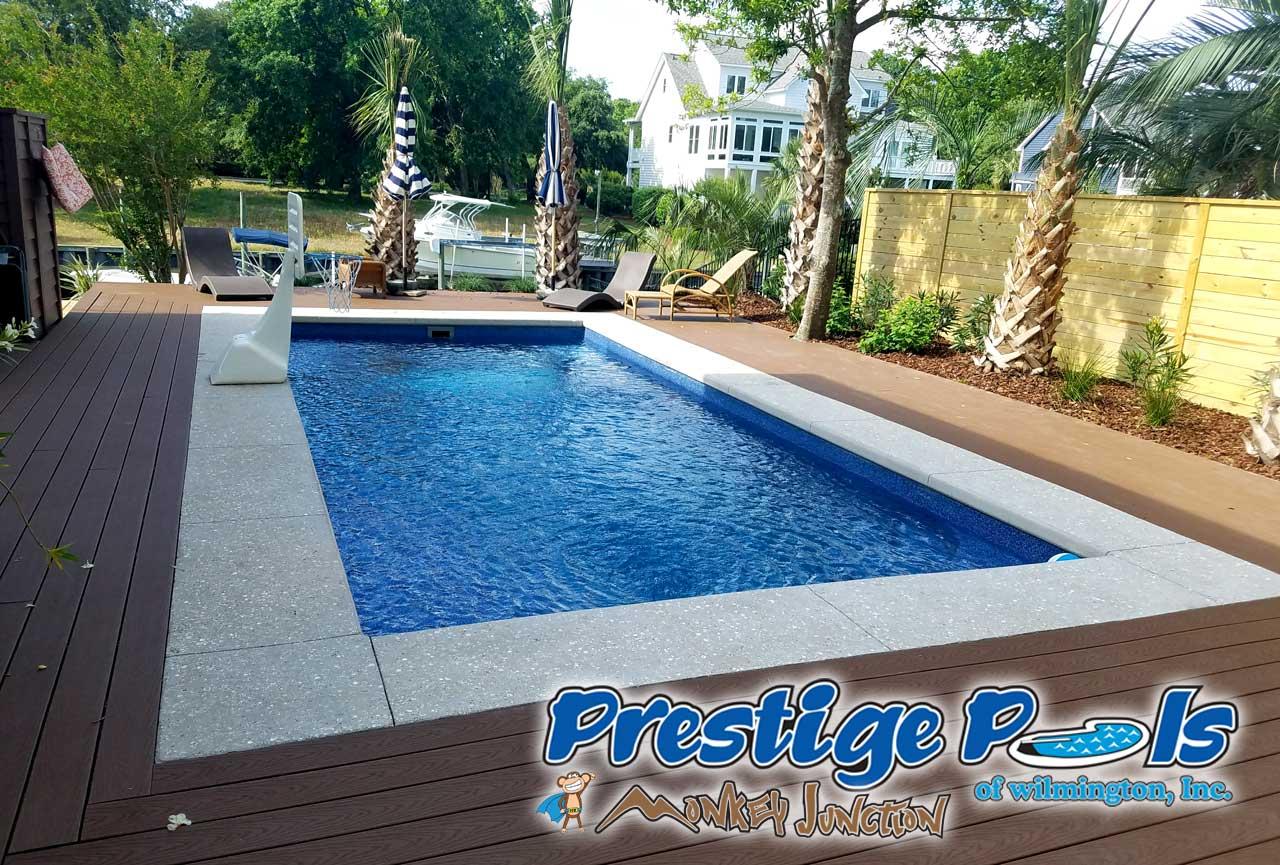 ... Prestige Pools Of Wilmington, NC   Empress By Viking Pools In Pacific  Blue Crystite Gemstone ...