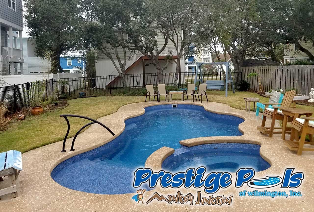 Beau ... Prestige Pools Of Wilmington NC Swimming Pool With Custom Decking ...